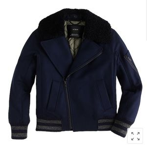 Collection J.crew sherling bomber coat